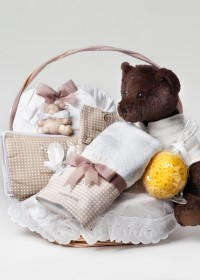 Fotógrafo de Productos -  Cesta de tiendas La cigueña del bebe