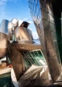 Detalle museo Guggenheim para cartel publicitario